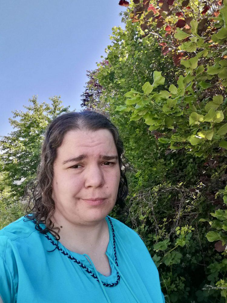 Porträtfoto: Angelika Witczak mit nassen Haaren
