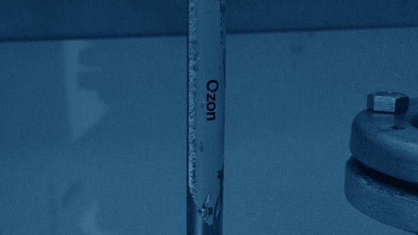 Versetzung des Wassers mit Ozon im Wasserwerk der Infra Fürth