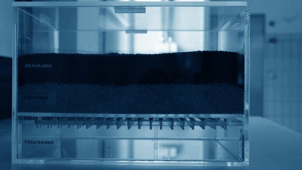 Filtermodell der Filteranlage der Infra Fürth